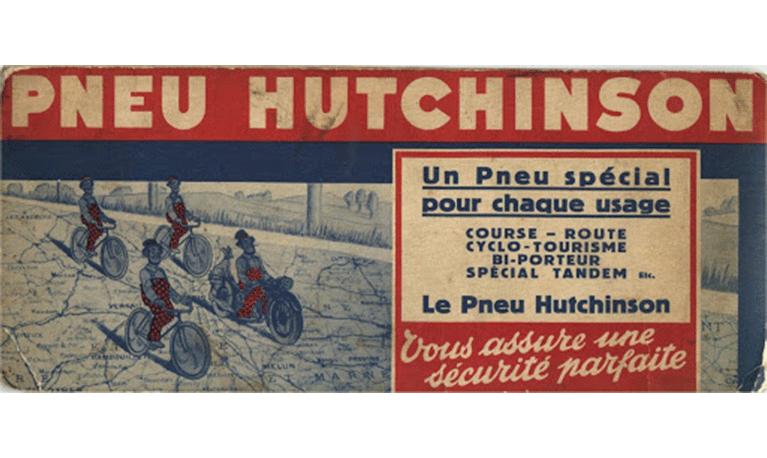 Hutchinson produit ses premiers pneus de vélo.