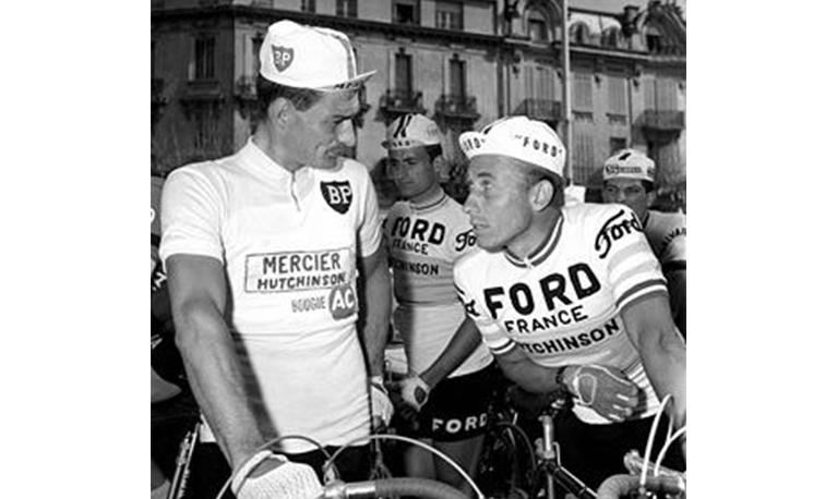 Jacques ANQUETIL gagne le Tour de France sur Hutchinson ! Quatre titres suivront de 1961 à 1964