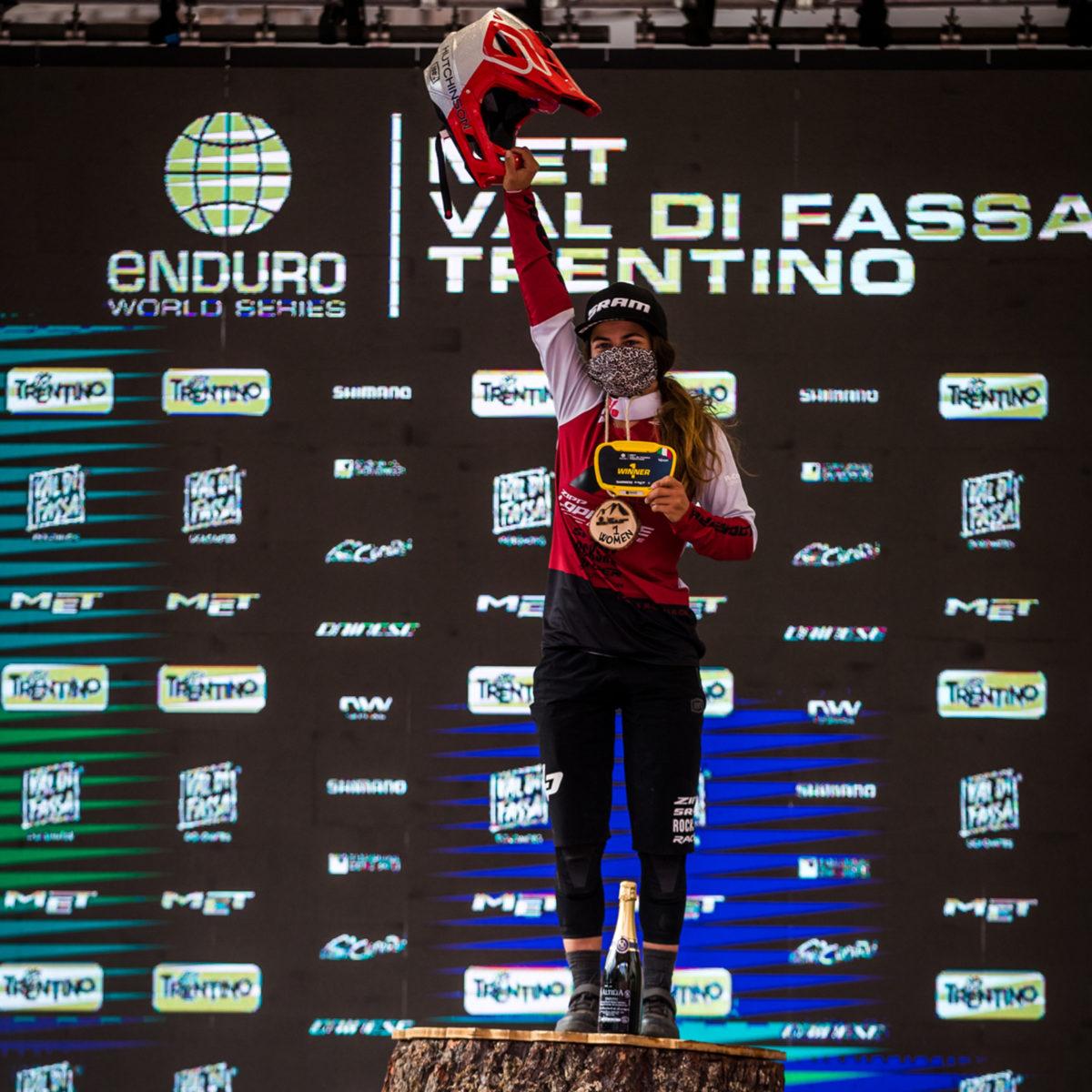 Victoire d'Isabeau Courdurier EWS#1 Val di Fassa